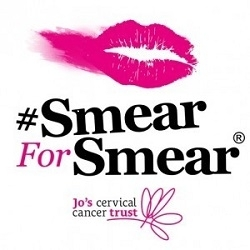 Logo for the Smear for Smear cervical screening campaign by Jo's Cervical Cancer Trust